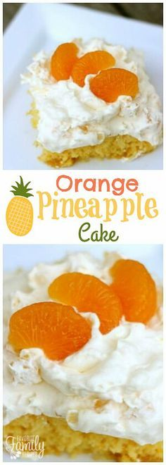Orange Pineapple cake is a light, fruity cake with an island flair. You will love the delicious whipped creamy topping! Perfect for potlucks and parties! via @favfamilyrecipz