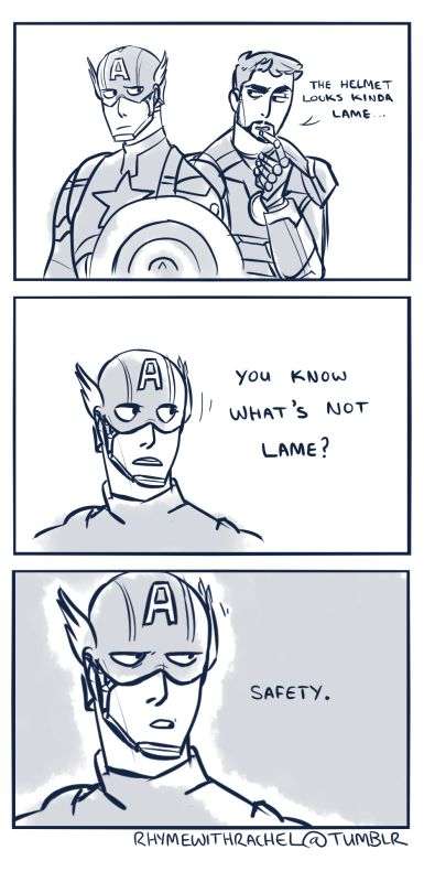 """:) Bucky: SAYS THE SO CALLED """"HERO"""" WHO PICKED UP FIGHTS IN ALLEYWAYS BEHIND THE THEATRE AHEM STEVE GRANT ROGERS BARNES"""