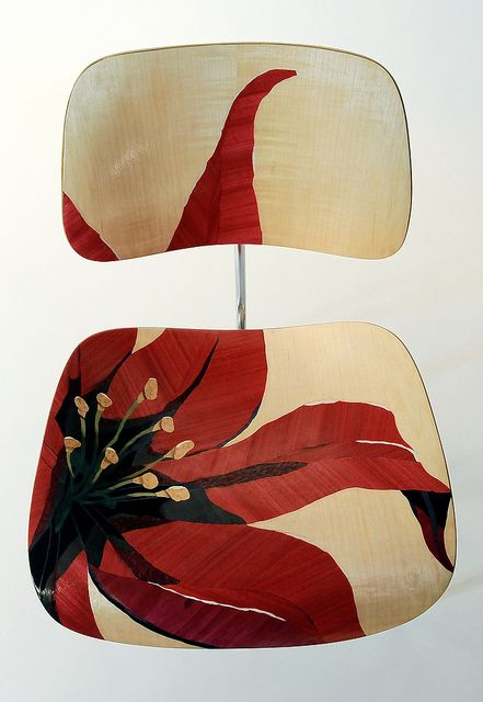 Oh, I can so see painting the office chairs!...painted eames style chair