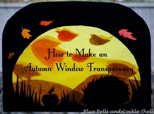 How to Make an Autumn Window Transparency   from Blue Bells and Cockle Shells #homeschool #WaldorfEducation
