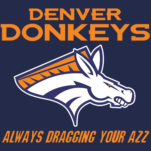 Denver Donkeys - Rival Football T Shirt