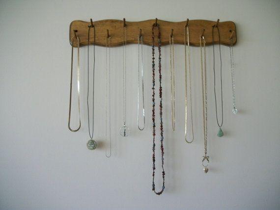 Collar de la joyería Rack organizador madera con por PGSgifts