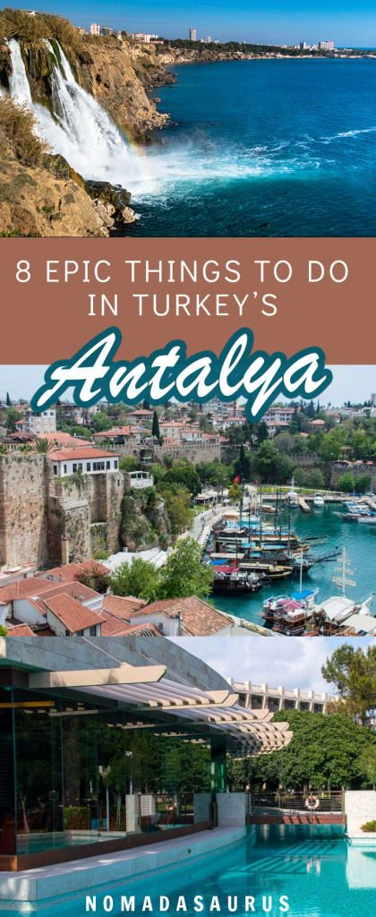 You do not want to miss Antalya if you visit Turkey! This seaside town is great for both adventure and relaxing. #turkey #antalya