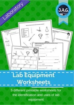 This pack includes 5 different printable worksheets that can be used in class or for homework.  The worksheets are designed to reinforce students ability to correctly identify and explain what a range of lab equipment is used for.Also availableLab equipment activity bundle
