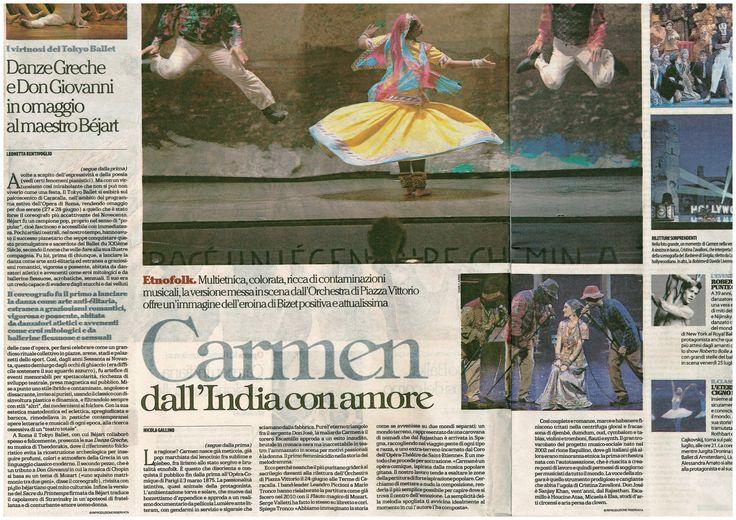 Articolo sulla Carmen dell'Orchestra di Piazza Vittorio pubblicato da Repubblica