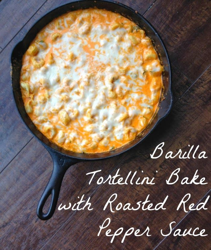 That Mama Gretchen: Barilla Tortellini Bake with Roasted Red Pepper Sauce #pmedia #JoytotheTable
