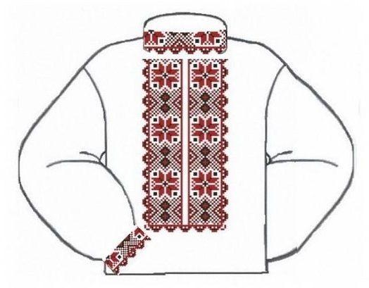 Белая детская вышиванка ВМаПс-001Б