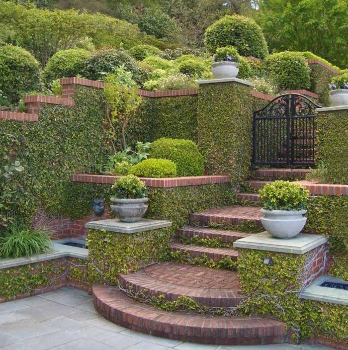 Garden Stairs. Outdoor Garden Steps Features Garden Steps Design ...