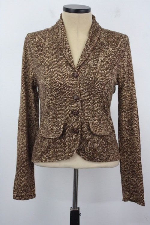 32.71$  Buy here - http://viglc.justgood.pw/vig/item.php?t=xxdonq921276 - August Silk Medium Multi Color Printed 4 Buttons Women's Formal Jacket Blazer 32.71$