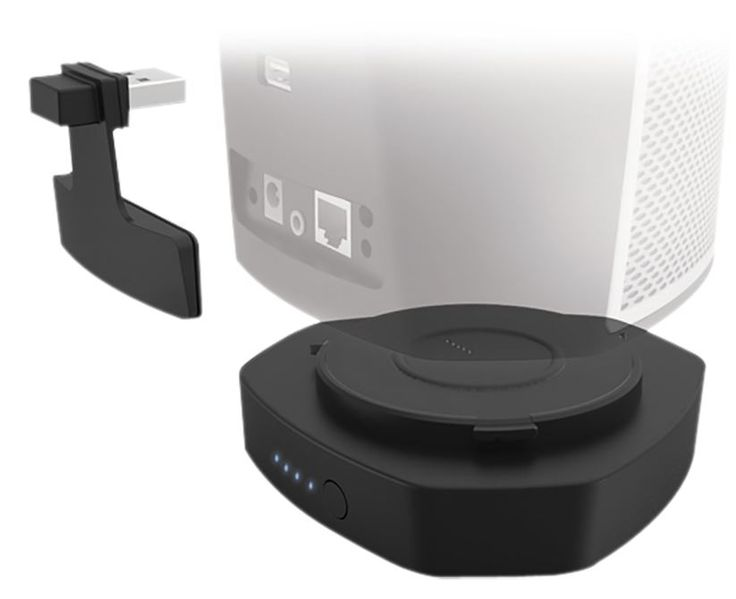 Denon HEOS 1 Go Pack Black  Description: Denon HEOS I Go Pack Black: Batterij voor HEOS 1 Met deze zwarte Denon HEOS I GoPack batterij kun je circa 6 uur genieten van je HEOS 1 draadloze speaker. De HEOS GoPack is een oplaadbare lithium-ion batterij met LED-batterij indicator. De HEOS 1 Go Pack bevestig je gemakkelijk aan de HEOS 1 speaker. De meegeleverde siliconen afdichting biedt bescherming tegen opspattend water en maakt van de HEOS 1 de ideale draadloze draagbare buitenspeaker…