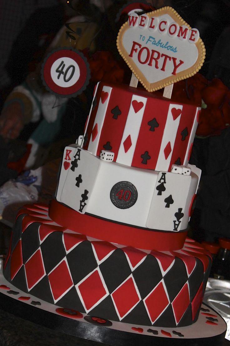 Casino 40th birthday cake