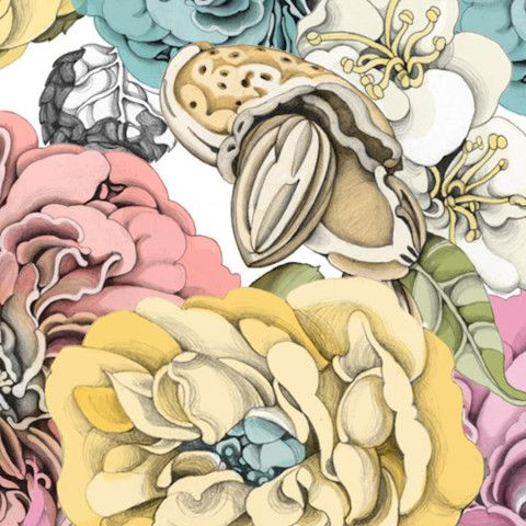Illustration - Carmen Garcia Huerta - The Mushroom Company - flowers pattern