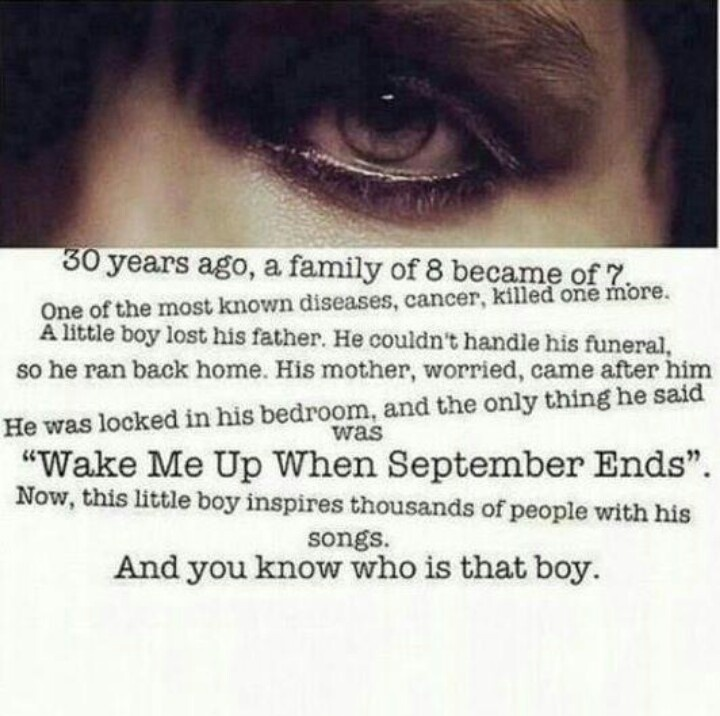 "The story about how ""Wake Me Up When September Ends"" came to be. You hear that? That's the sound of millions of Green Day's hearts shattering."