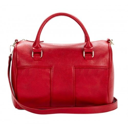 Natassia Top Handle Satchel - Red