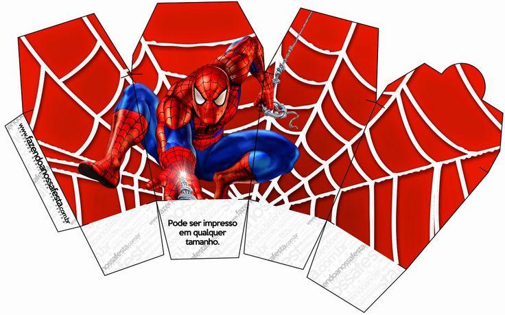 Spiderman: Free Printable Boxes.