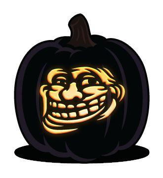 Trollface Pumpkin Pattern Pumpkin Stencils For Faces