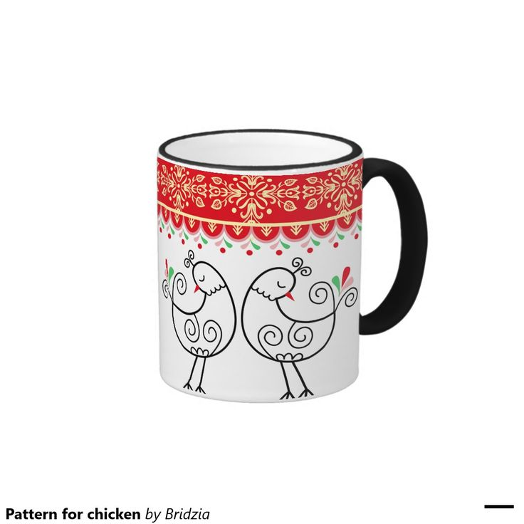Pattern for chicken ringer coffee mug