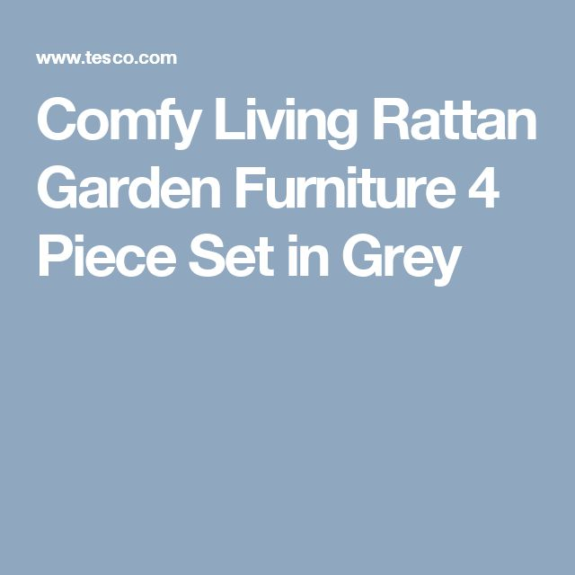 comfy living rattan garden furniture 4 piece set in grey