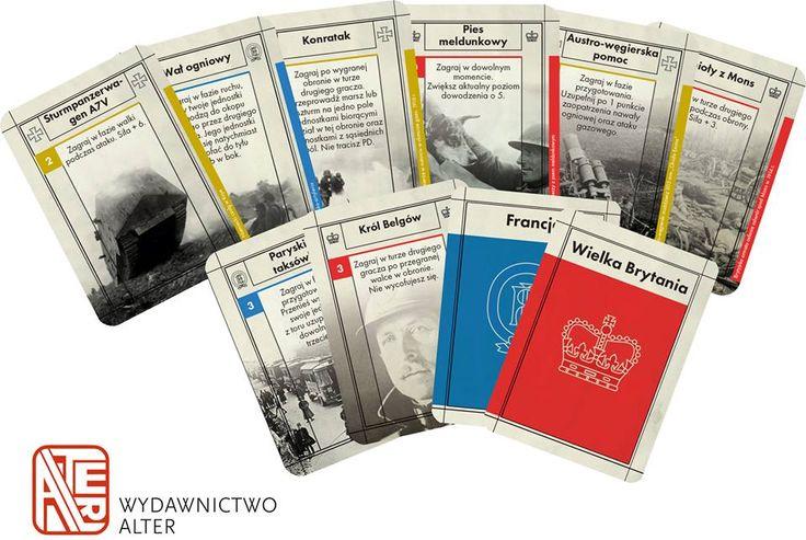 Wizualizacja wybranych kart nacji do gry Piekło okopów