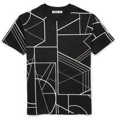 McQ Alexander McQueen - Printed Drop-Shoulder Cotton T-Shirt