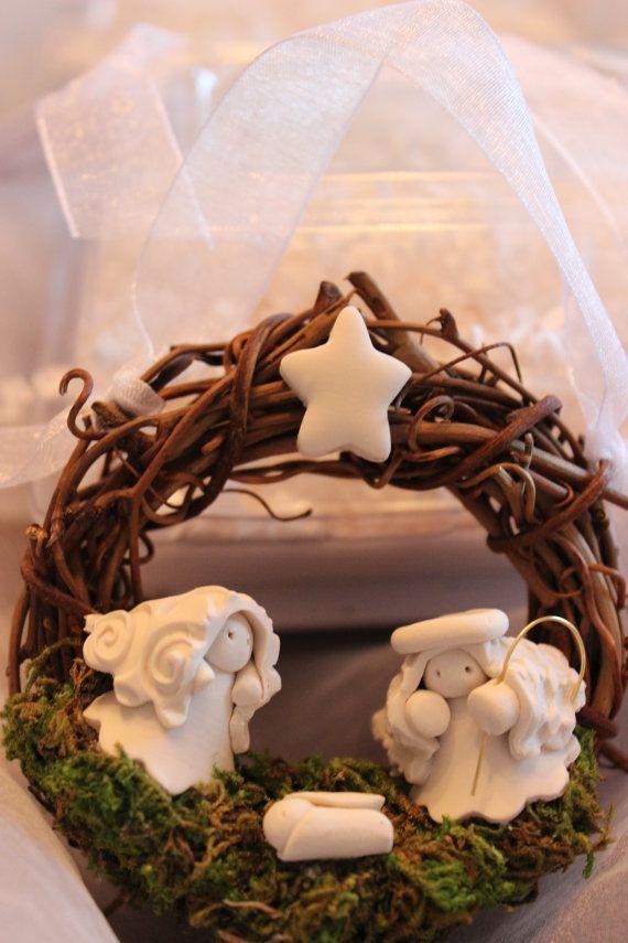 L'Atelier d'Anduze:Christmas Ornament Nativity Wreath