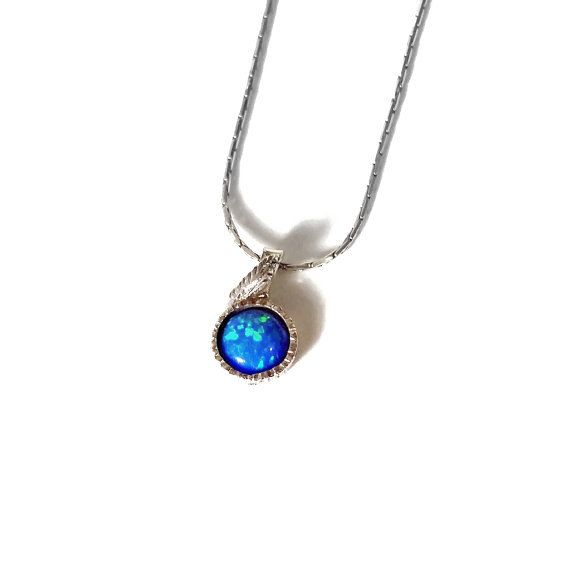 Check out this item in my Etsy shop https://www.etsy.com/il-en/listing/267212716/blue-opal-necklace-blue-opal-gemstone