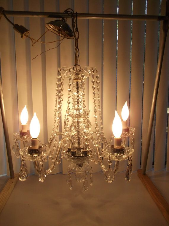 Hey, I found this really awesome Etsy listing at https://www.etsy.com/listing/484659974/stunning-five-arm-crystal-chandelier