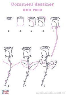 Comment dessiner une rose                                                       …