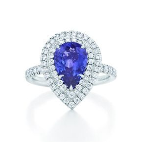 Tiffany & Co. | Item | Tiffany Soleste ring in platinum with diamonds and a tanzanite. | United States