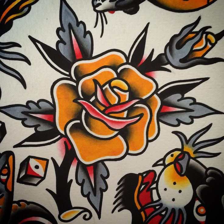 of-all-contradictions:  Rose (at Speakeasy Tattoo)