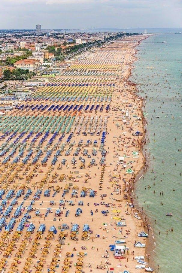 Rimini, Italy The largest Italian resort on the Adriatic coast