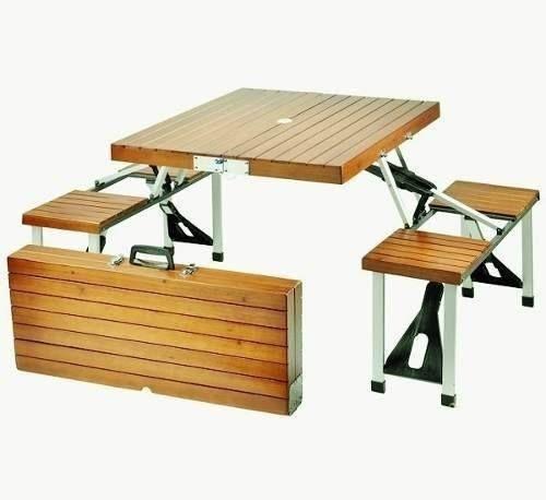 25 beste idee n over mesas plegables de madera op for Mesa de camping plegable de aluminio
