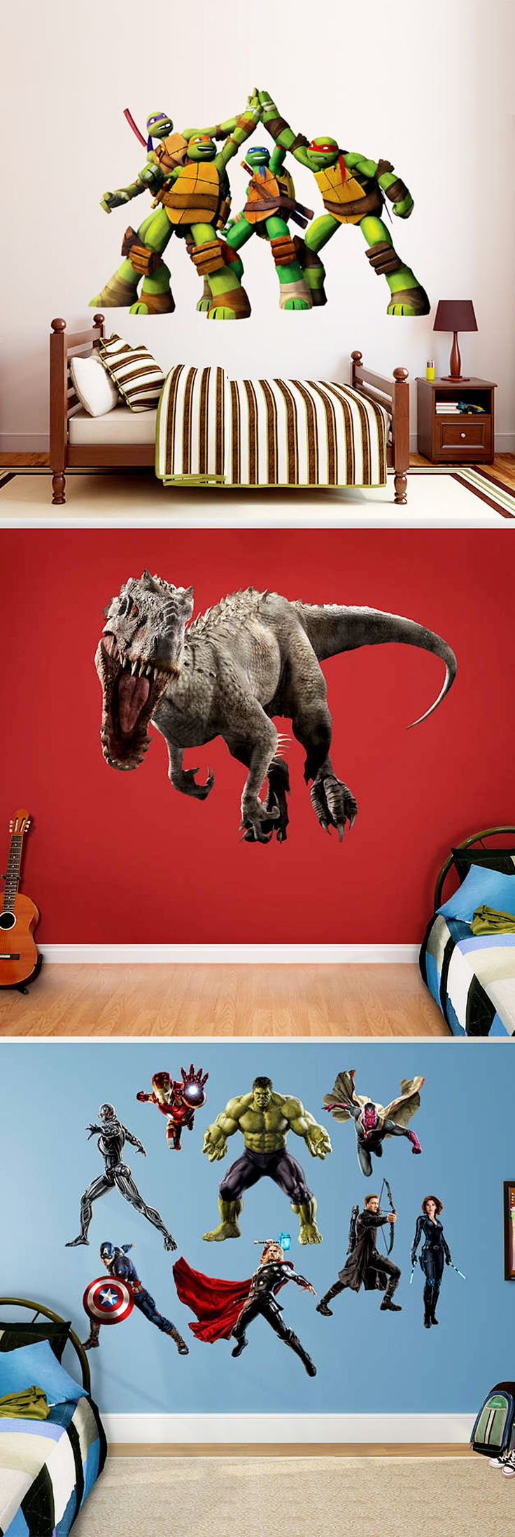 Make any room come to life with life-size Fathead Wall Decals!