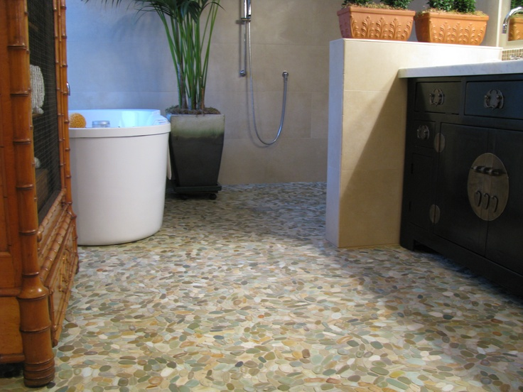 Zen Paradise Wave Style Tiles Golden Used In Beautiful Bathroom  Installation Www.zenparadise.net