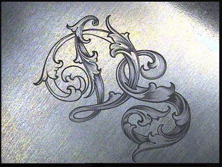 Sam Alfano's Tips & Tricks for Hand Engravers - Leaf Script D