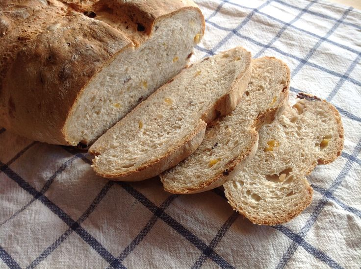 Homemade bread with cashew, dried apricots and raisins