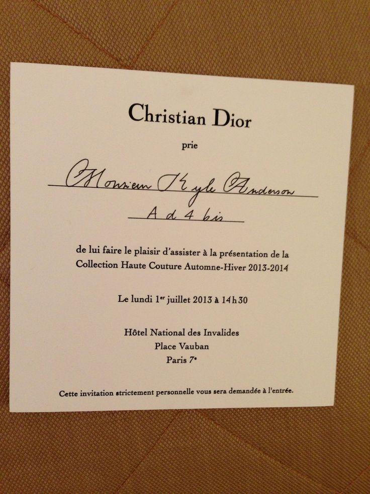 Dior haute couture runway show ticket 21