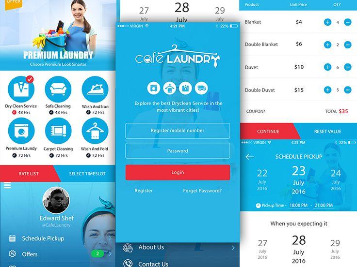 Laundry App UI