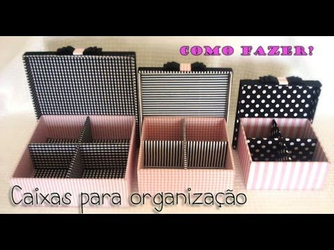 DIY- Caixas Organizadoras / Thábatta Campos - YouTube