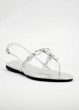 Beach wedding shoes flat http://www.shopzoey.com/Silver-Evening-shoes-with-flat-heels-Style-800-19.html $39.99