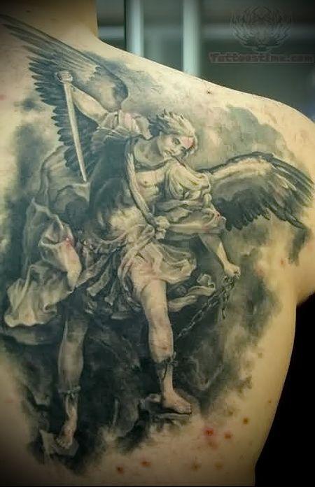 15 must see angel warrior tattoo pins male fallen angel for Warrior angel tattoos