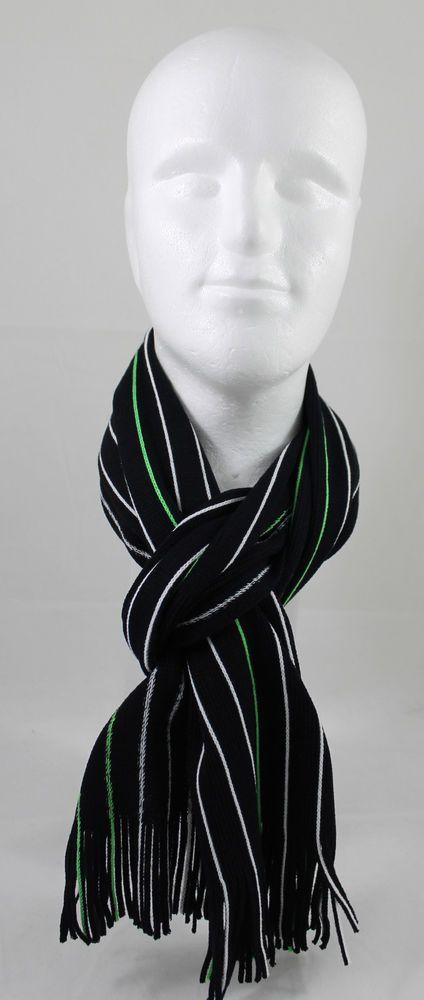 Rotfuchs Strickschal Raschelschal Streifen modisch schwarz grün weiß 100% Acryl