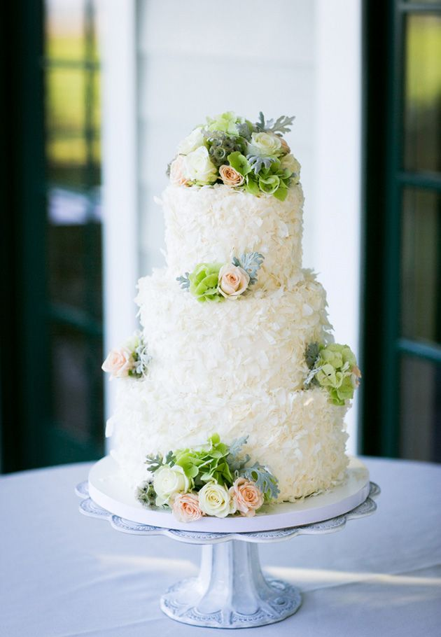 wedding cakes in lagunbeach ca%0A Petal cake with floral decor