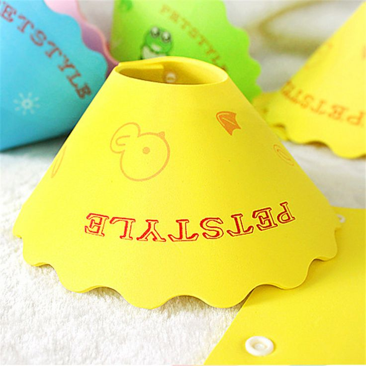 2016 New Yellow Pet Circle Dog Cat Grooming Protective Cover Sleeve Wound Healing Cone Anti Bite Ring Dog Supplies Dog Collars