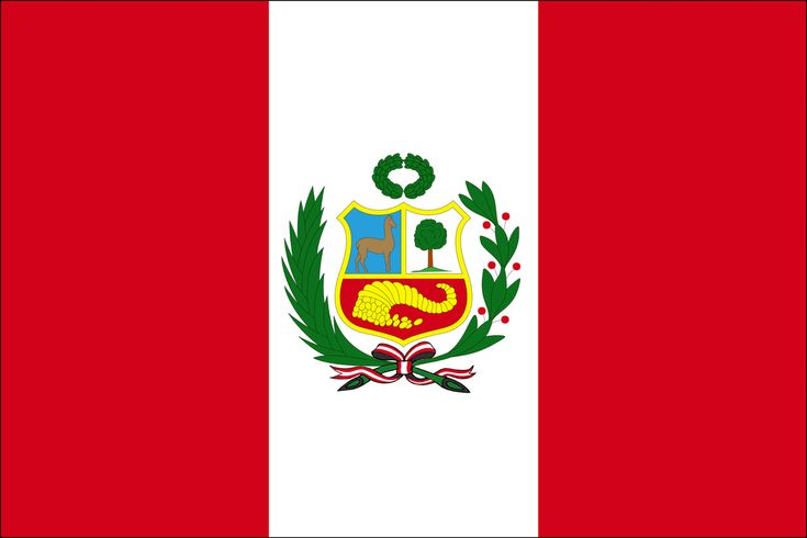 The flag of Peru was adopted by the government of Peru in 1825. It is a vertical triband with red outer bands and a single white middle band. Depending on its use, it may be defaced with different emblems, and has different names. Flag day in Peru is celebrated on June 7, the anniversary of the Battle of Arica.
