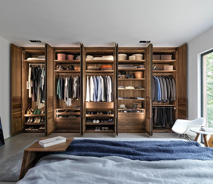 Luxury high-end wardrobe interiors