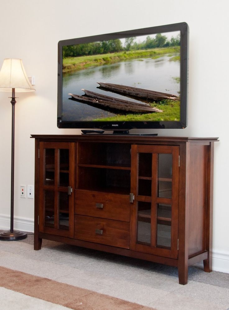 Tall Media Console. . Tv Console Cabinet Mid Century Modern Media ...