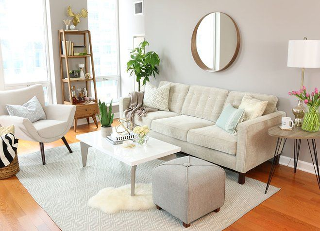 Before After A Lightened Up Living Room Wayfair Living Room Decor Apartment Small Apartment Living Room Minimalist Living Room Design