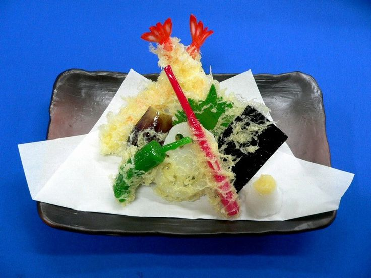 Assorted Tempura Ver. 2 Replica: Japanese restaurant display food made from polyvinyl chloride (PVC).