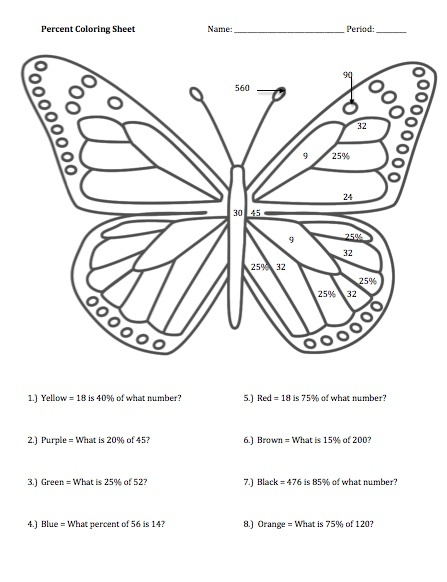 Math Coloring Pages 6th Grade : 112 best seventh grade printables! images on pinterest